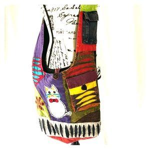 Handbags - Patchwork Crossbody Bag